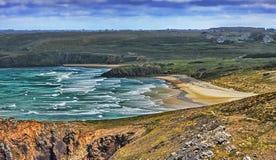 Strand i Brittany Arkivbild