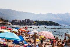 Strand i Budva royaltyfri fotografi