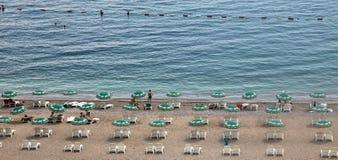 Strand i Budva, Montenegro Arkivbild