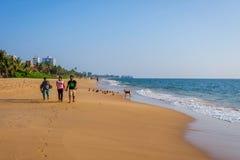 Strand i Colombo, Sri Lanka Arkivfoto