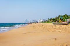 Strand i Colombo, Sri Lanka Royaltyfria Bilder