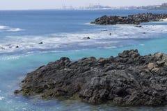 Strand i Costa Teguise Arkivbilder