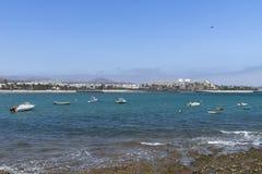 Strand i Costa Teguise Fotografering för Bildbyråer