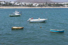 Strand i Costa Teguise Royaltyfri Bild