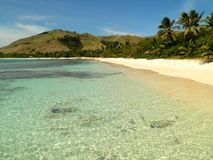 Strand i den fijianska ön Royaltyfria Foton