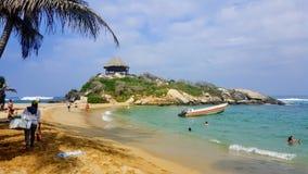 Strand i den Tayrona nationalparken Royaltyfria Bilder