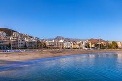 Strand i den Tenerife ön - kanariefågel Royaltyfria Foton