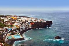 Strand i den Tenerife ön - kanariefågel Fotografering för Bildbyråer