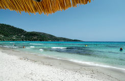 Strand i den Thasos ön - Grekland Arkivbilder