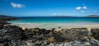 Strand i den yttre Hebridesen royaltyfria bilder