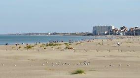 Strand i Dunkirk, nordliga Frankrike arkivfilmer
