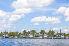 Strand i Fort Lauderdale som ses från vattentaxien Royaltyfria Bilder