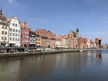 Strand i Gdansk Arkivbild