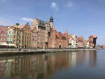 Strand i Gdansk Arkivfoto