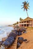 Strand i Ghana i morgonen royaltyfria bilder