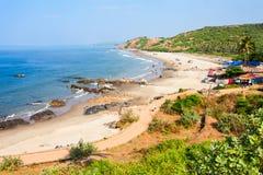 Strand i Goa, Indien royaltyfria bilder