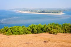 Strand i Goa, Indien royaltyfria foton