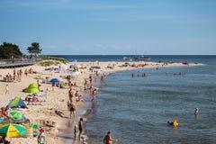Strand i Hel Arkivfoto
