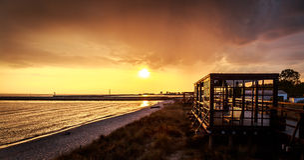 Strand i Hel Arkivfoton