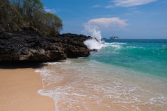 Strand i Indonesien royaltyfria bilder