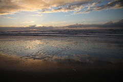 Strand i Kalifornien, USA Arkivfoto