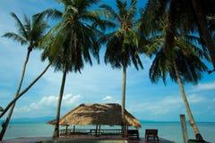 Strand i Koh Phangan Thailand Arkivfoton