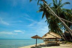 Strand i Koh Phangan Thailand Royaltyfri Bild