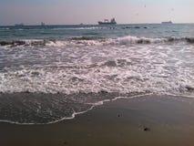 Strand i Limassol Arkivbild