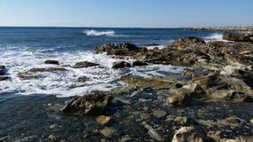 Strand i Limassol Amathounta Arkivbild