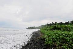 Strand i Limbe Arkivbild
