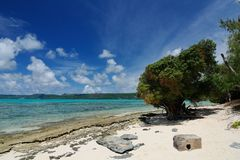 Strand i Managaha, Saipan Royaltyfria Foton