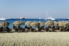 Strand i Mykonos Royaltyfria Bilder