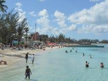Strand i Nassau Bahamas USA Arkivbild
