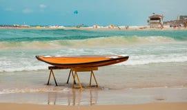Strand i Netanya Royaltyfri Bild