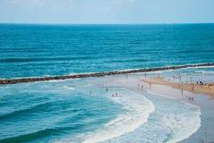 Strand i Netanya Arkivbild