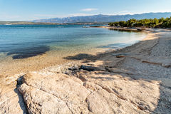 Strand i Novigrad Dalmatia arkivbild