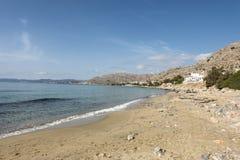 Strand i Pefkos Arkivbilder