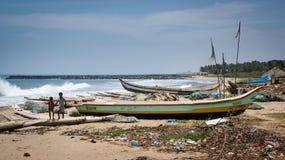 Strand i Pondicherry Fotografering för Bildbyråer