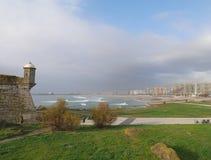 Strand i Porto, Portugal Arkivbild