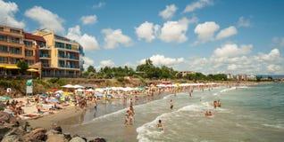 Strand i Ravda, Bulgarien Arkivbilder