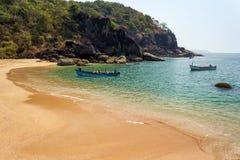 Strand i södra Goa, Indien Arkivfoto