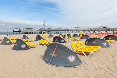 Strand i Scheveningen, Holland Royaltyfri Fotografi