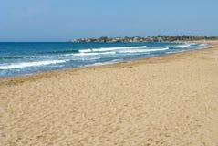 Strand i sida. Royaltyfri Foto