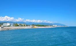 Strand i Sochi Ryssland Royaltyfri Bild