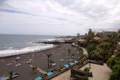 Strand i Tenerife, kanariefågelöar, Spanien Royaltyfri Fotografi