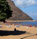 Strand i Tenerife, kanariefågelöar, Spanien Royaltyfri Bild