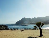 Strand i Tenerife, kanariefågelöar, Spanien Fotografering för Bildbyråer