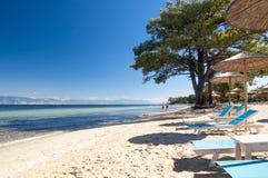 Strand i Thasos Arkivfoton