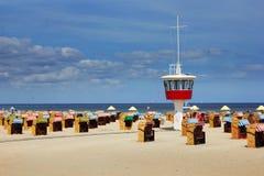 Strand i Travemunde, Tyskland Fotografering för Bildbyråer