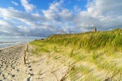 Strand i Tyskland på det baltiska havet Arkivfoto